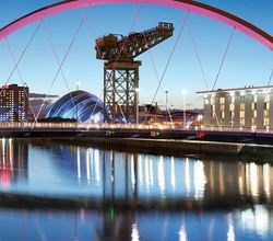 Myhotelbreak has hotels in all the main cities, including Glasgow with a view of the River Clyde