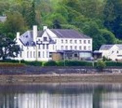 View of a budget hotel in Arrochar in Loch Lomond Scotland.