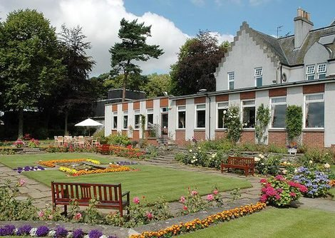 Pitbauchlie House Hotel, Dunfermline has lovely gardens and you can view the Fort Road Bridges from the hotel