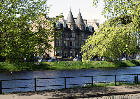 The Palace Hotel is located next to the River Ness and opposite Inverness Castle